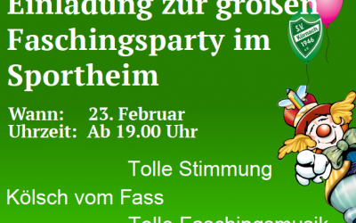 Faschingsparty am 23. Februar