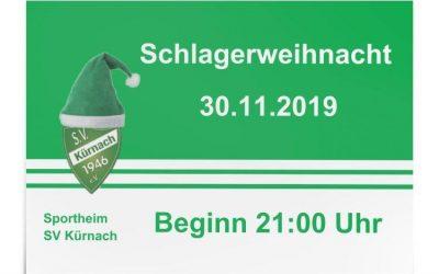 Schlagerweihnacht 2019 – am 30.11. im Sportheim!